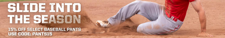15% Off Select Baseball Pants