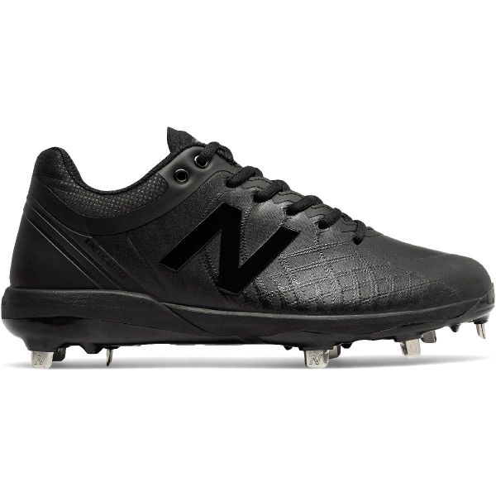 New Balance Mens 4040v5 Triple Black Low Metal Baseball Cleats