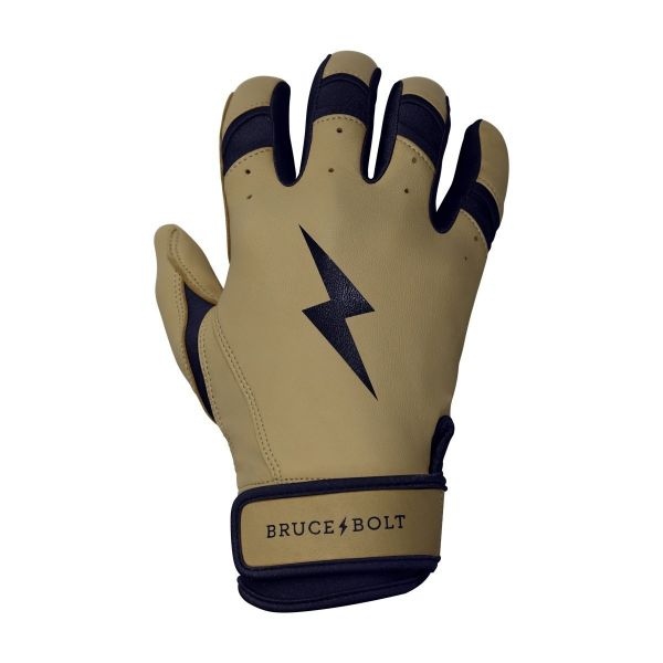 Bruce Bolt Men's Natural Series Long Cuff Batting Gloves