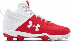 Under Armour Youth Leadoff Mid Molded Baseball Cleats