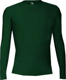 Badger Men's Pro Compression Long Sleeve Crew Shirt