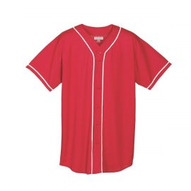 Augusta Adult Wicking Mesh Button Front Baseball Jersey
