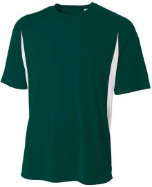 A4 ADULT SS COLOR BLOCK TEE