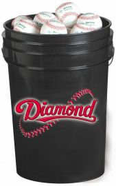 Diamond Black Bucket with BB-OL Baseballs (24 Balls)