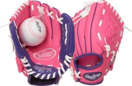 "Rawlings Youth Players Series 9"" Baseball Glove With Ball"