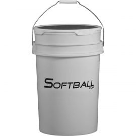 Softball.com Empty Softball Bucket with Padded Lid