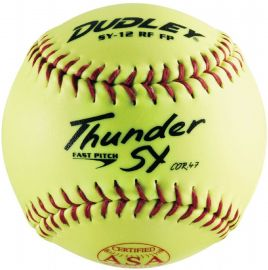 "Dudley 12"" ASA .47 Cor Synthetic Fastpitch Softball (Dozen)"