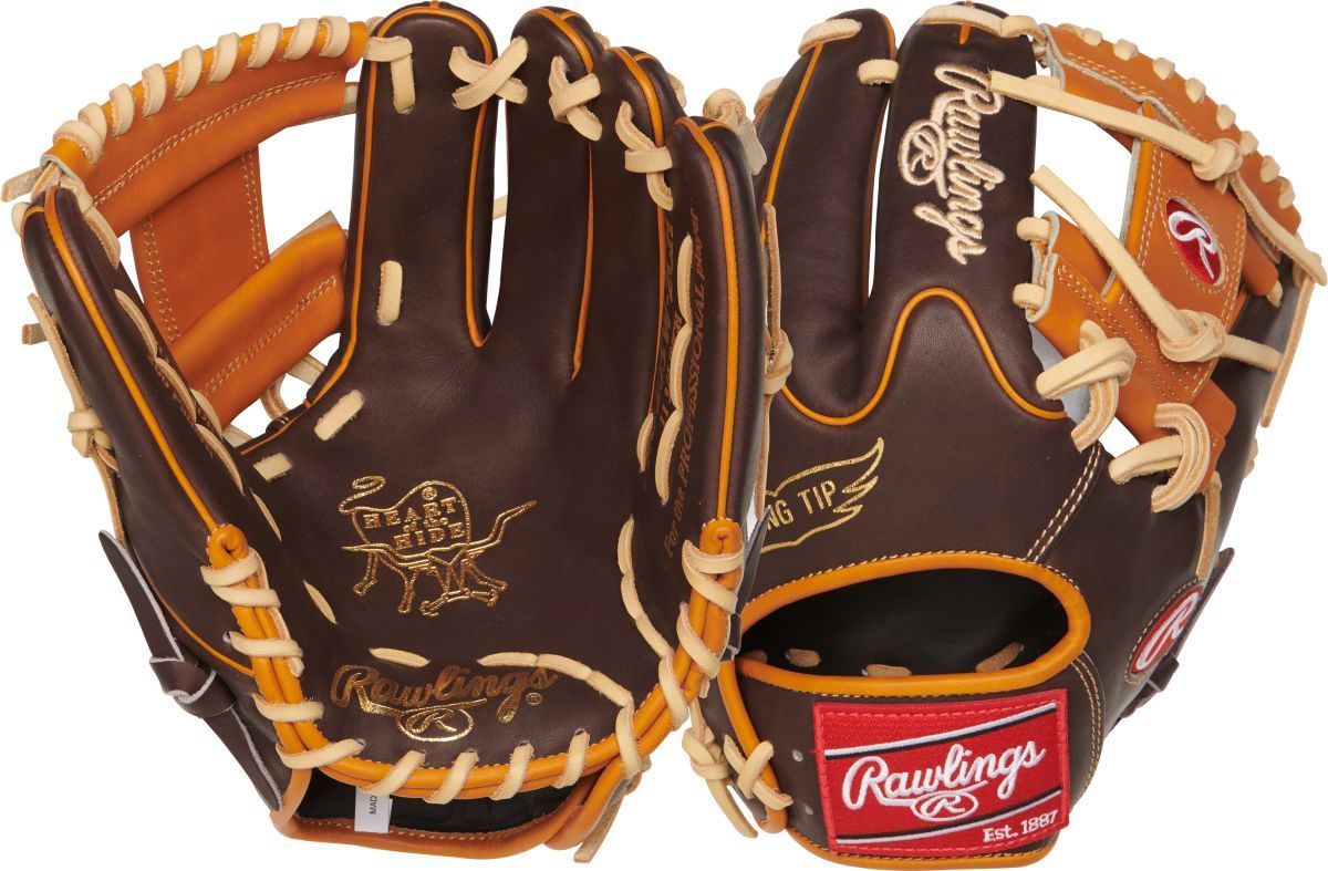 Rawlings PRO205W-2CH Heart of The Hide 11.75 Chocolate