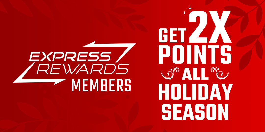 Get 2x Points All Holiday Season