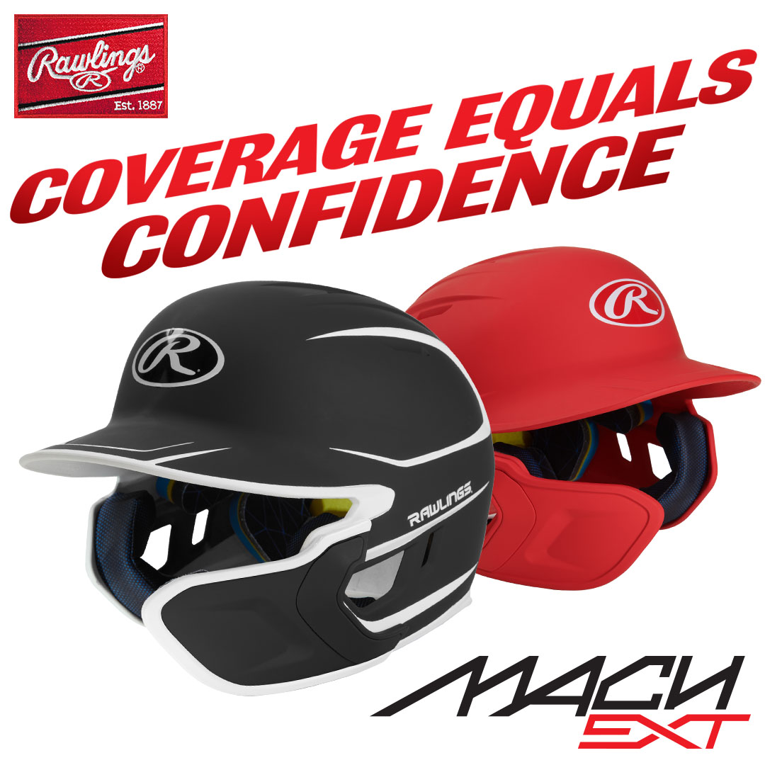 Rawlings Mach Helmets & Extension Flaps
